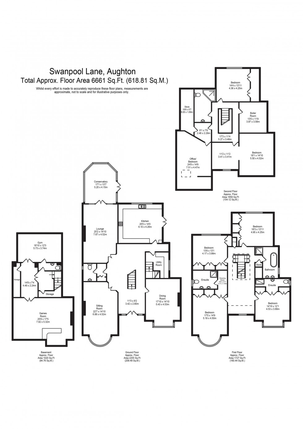 Floorplan for Swanpool Lane, Aughton