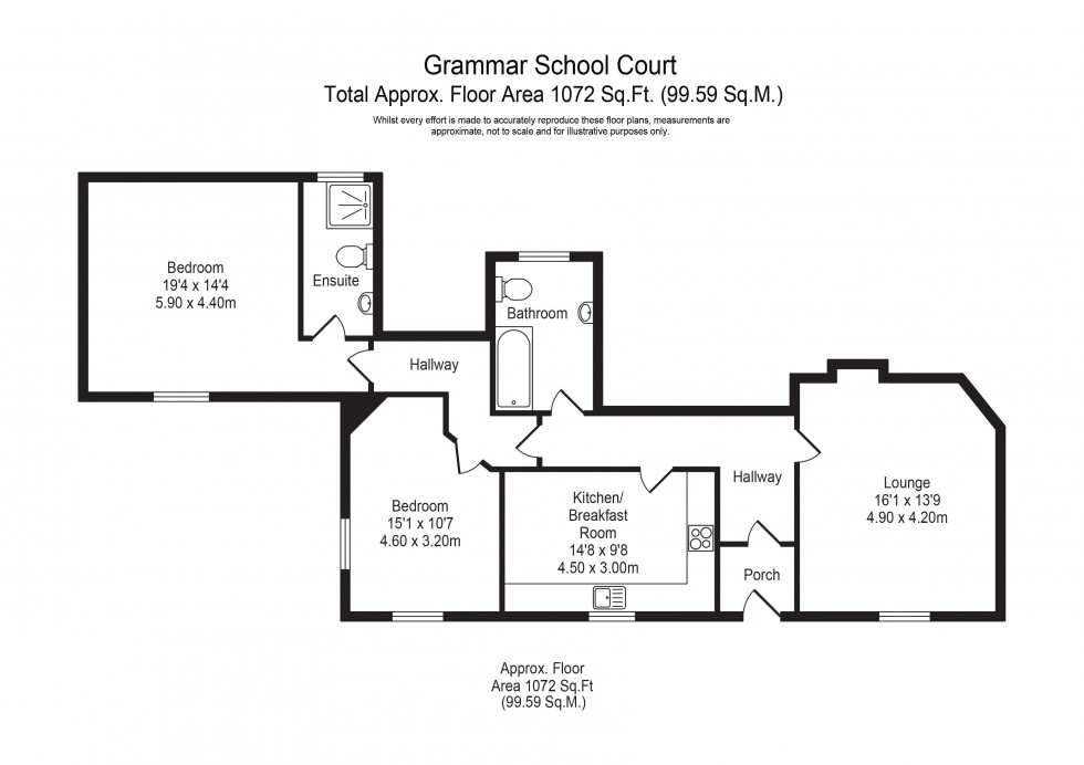 Floorplan for Grammar School Court, Ormskirk