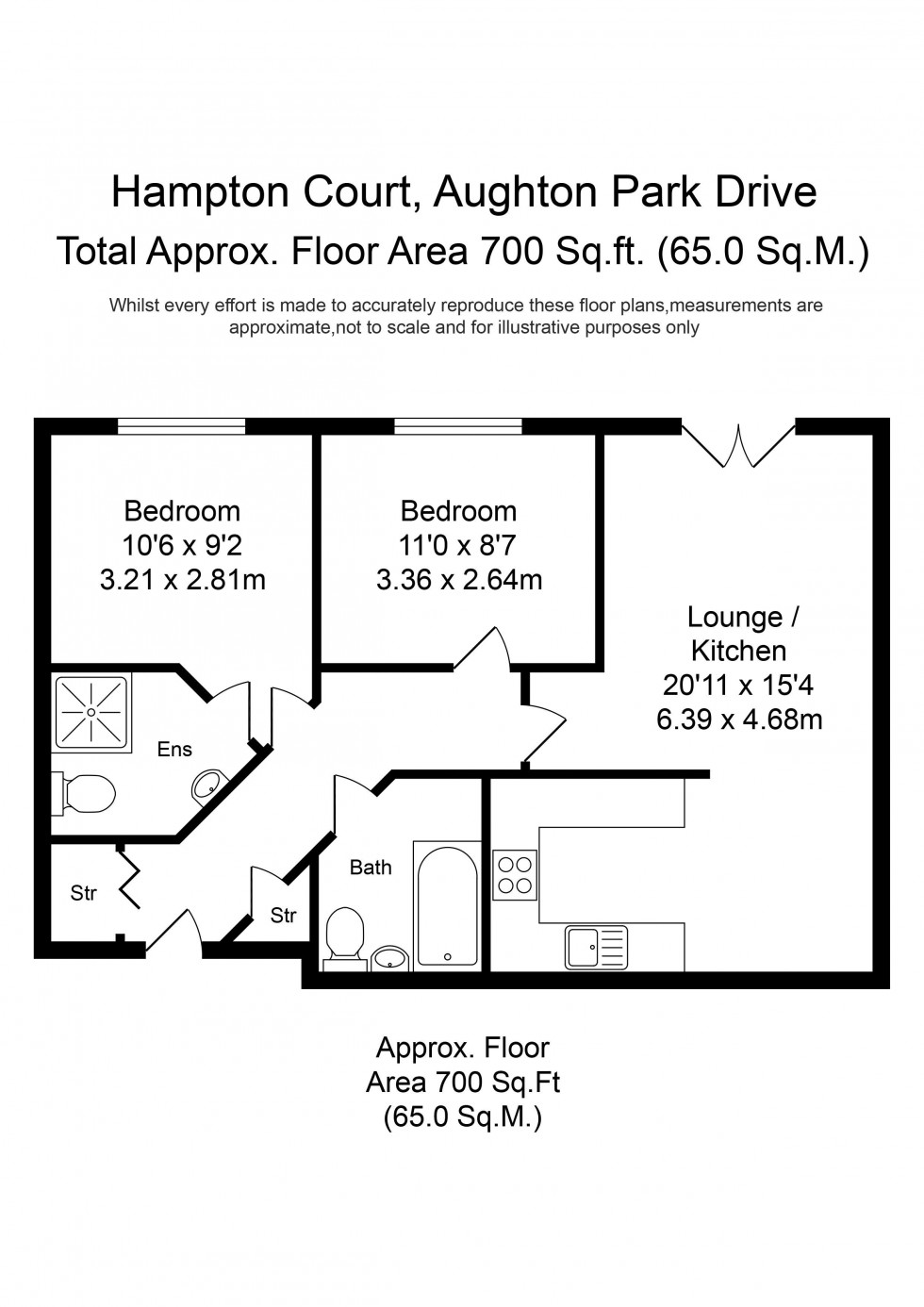 Floorplan for Aughton Park Drive, Aughton