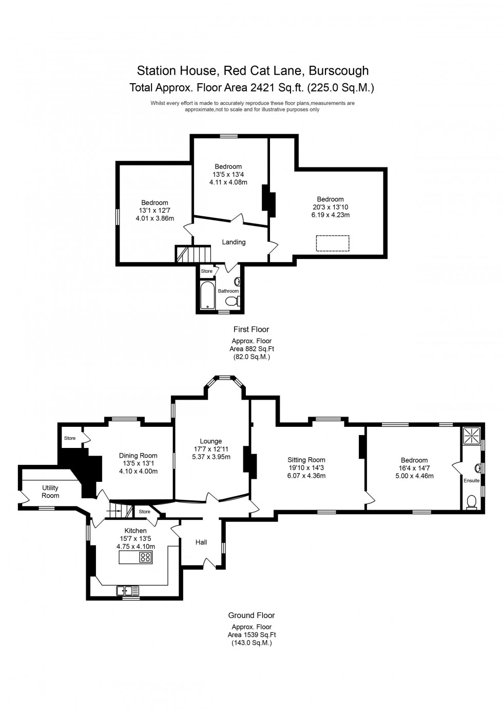 Floorplan for Red Cat Lane, Burscough