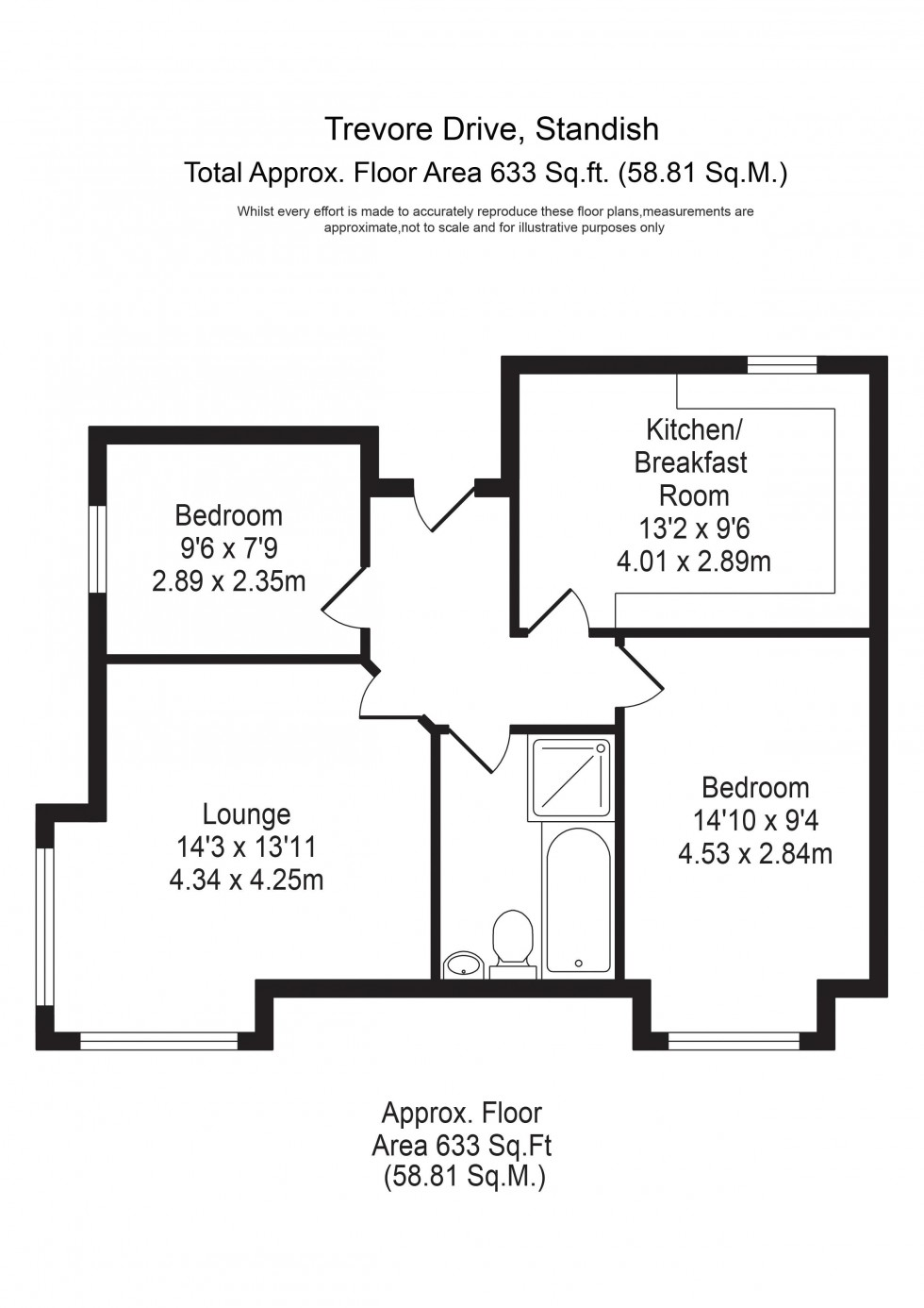 Floorplan for Trevore Drive, Standish