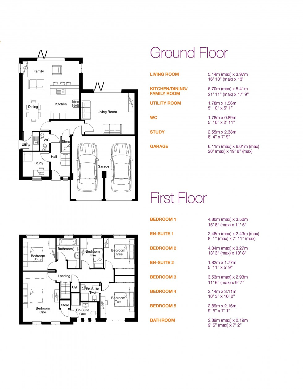 Floorplan for Preston Road, Grimsargh