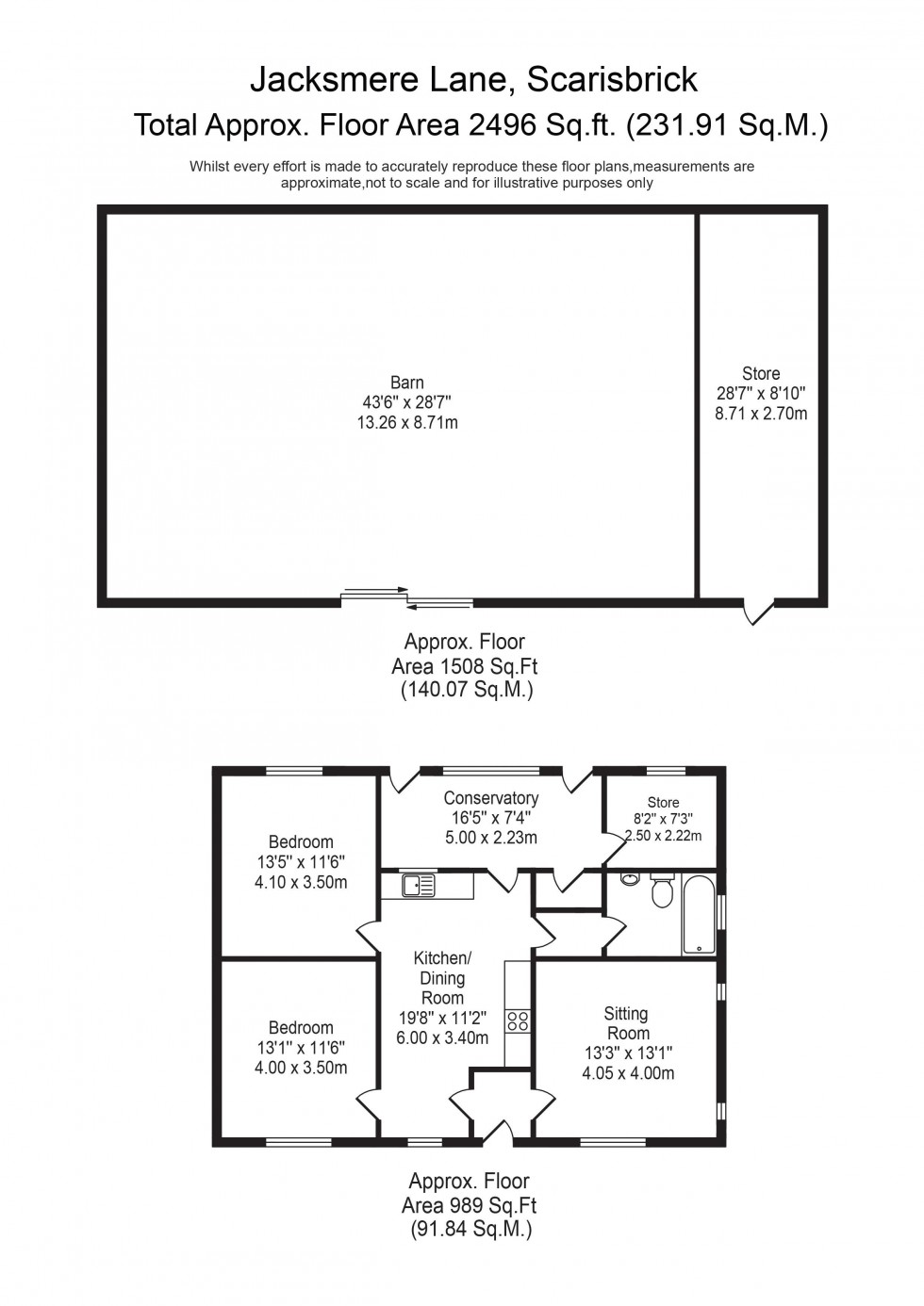 Floorplan for Jacksmere Lane, Scarisbrick